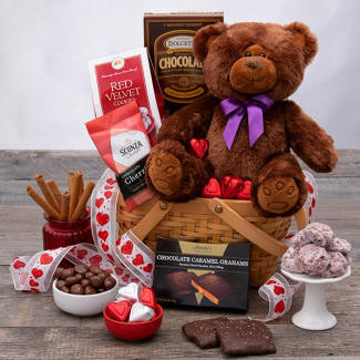 Teddy Bear & Chocolate For Valentines Day