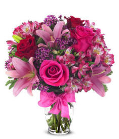 Roses And Liles For Valentines Day Delivery $39.99